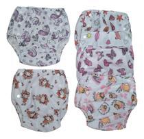 Calça Enxuta Fralda Plástica Ecológica Reutilizável para Bebê - Chumbinho