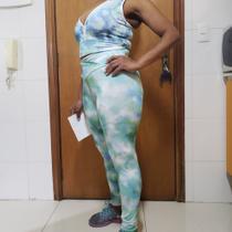 Calça Feminina Cintura Alta Tie Dye Suplex Lançamento - Bras Tecidos