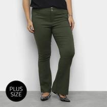 Calça Flare Heli Plus Size Feminina -