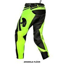 Calca ims flex motocross / off road / trilha fluor / azul / vermelha 48 - Breder Moto