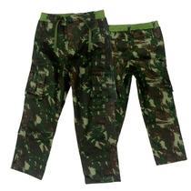 f456d4c97c Calça Infantil Camuflada Exército Brasileiro tamanho 14 - Mundo do militar