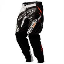 Calça Infantil De Motocross Insane 3 Preto E Laranja Pro Tork -