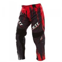 Calça Infantil De Motocross Jett Preto e Vermelho Pro Tork -