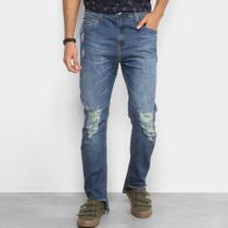 5f4554c6d Calça Jeans Colcci Enrico Barra Recortada Rasgos Masculina