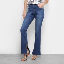 Calça Jeans Disparate Bootcut Fenda Feminina -