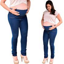 Calça Jeans Feminina Cigarrete Gestante com Elastano Confortável Cambos -