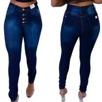 Calça Jeans feminina  cintura alta levanta bumbum skinny - Ninas Boutique