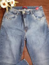 Calça Jeans Feminina com Lycra Bokker Plus Size com ilhós -
