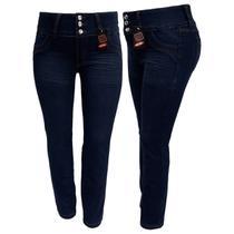Calça Jeans Feminina Cós Largo Plus Size - Razure