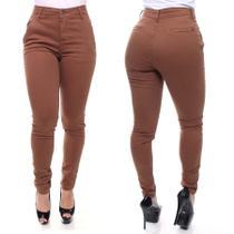 Calça Jeans Feminina Esporte Fino Cor Marrom Crocker - Crocker Moda Casual