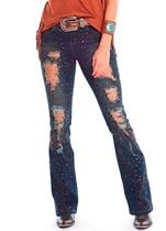 Calça Jeans Feminina Tassa Gold Destroyed Dirty 4439
