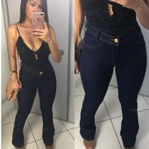 Calça Jeans Flare Cintura Alta Hot Pants - Rsl