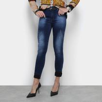 Calça Jeans Jezzian Jeans Skinny Used Feminina -