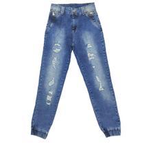 Calça Jeans  Jogger Sawary Feminina - Sawary Jeans