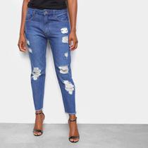 Calça Jeans John John Rasgada Barra Desfiada Feminina -