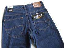 Calça Jeans Lee Chicago Masculina Tradicional 100% Algodão Stone Escura 1004 -