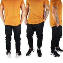 Calça Jeans Masculina Jogger Com Punho Cós Elástico - Daze Modas