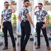 Calça Jeans Masculina Slim Preta - Equilibrío