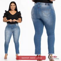 Calça Jeans Midi Plus size Feminina Biotipo -