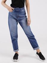 Calça Jeans Mom Com Cinto Feminina Azul - Play Denim