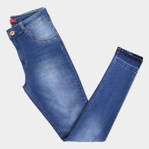 Calça Jeans Plus Size Biotipo Skinny Alice Cintura Alta Feminina -