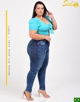 Calça Jeans Plus Size com Cinta Sol Jeans -