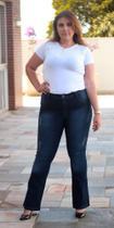 Calça Jeans Plus Size Feminina Flare Estonado c/ Puído (7622) - Joop Jeans