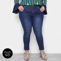 Calça Jeans Plus Size Razon Skinny Abertura Lateral Feminina -