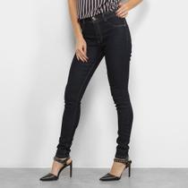 Calça Jeans Skinny Biotipo Melissa Lisa Botão Duplo Cintura Média Feminina -