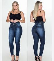 Calça jeans skinny clocha feminina - Via Laurence