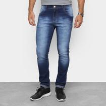 Calça Jeans Skinny Coffee Destroyed Masculina -