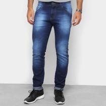 Calça Jeans Skinny Coffee Estonada Masculina -