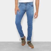 Calça Jeans Skinny Coffee Lavada Masculina -