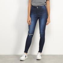 Calça Jeans Skinny Colcci Bia Estonada Rasgo Feminina -