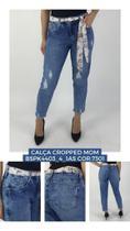Calça Jeans Skinny Feminina Bokker MOM com Lenço na Cintura -