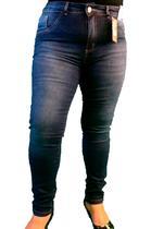 Calça Jeans Skinny Plus Size Roupas Femininas Cós Alto - Bunny Jeans