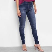 Calça Jeans Skinny TKS Estonada Cintura Média Feminina -