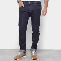 Calça Jeans Slim Coffee Lavagem Clássica Cintura Média Masculina -