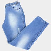 Calça Jeans Xtra Charmy Plus Size Com Martingale Feminina -