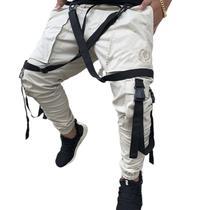 Calça Jogger Bege Masculina Trend Suspenders Tracks - Art Stillo Collection