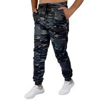 calça jogger masculina Camuflada c/Preto com Punho Elastano Oferta Ilimitada - Mania Do Jeans