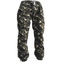 Calça Jogger Masculina Jeans Sarja Camuflada Elástico - Atelier Do Silk
