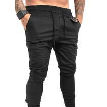Calça Jogger skiny Masculina em sarja Vira Lata Wear -