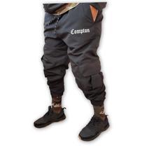 Calça jogger tactel Cargo Corta Vento Unissex Comp Preta - Stun