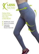 Calça Legging Alta Compressão Less Now Cós Alto Power Air St Cinza