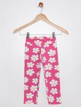 Calça Legging Juvenil Para Menina - Rosa - Bochechinha
