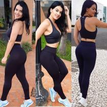 Calça Legging Preta Fitness Academia Coz Alto - M - Andreia Hardt By Fitness