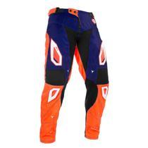 Calça Motocross Pro Tork Jett Evolution 2 Azul E Laranja -