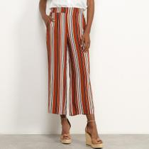 Calça Pantalona Facinelli Listrada Feminina -