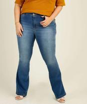 Calça Plus Size Feminina Jeans Flare Biotipo -